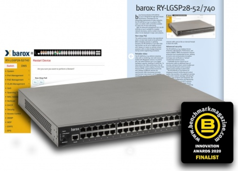 barox RY-LGSP28 Series – leading switch finalist in the Benc ...