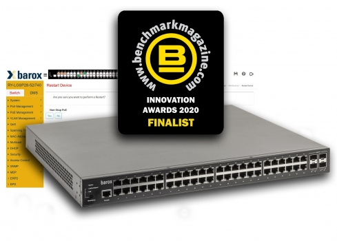 barox RY-LGSP28 Series switch - finalist in the  Benchmark Innovation Awards 2020